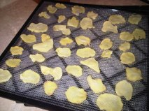 tray of dehydrated potatoes